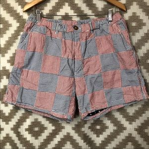 Chubbies Men's Red White Blue Seersucker Shorts